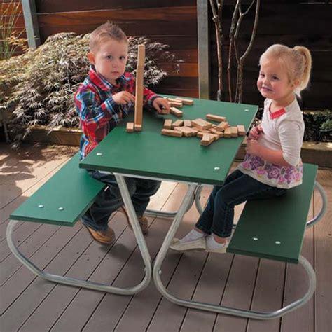 ultraplay 46 quot preschool picnic table green planks amp zinc 447 | 357 preschool picnic table green zinc