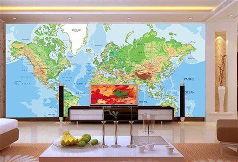 Business World Map 2 Wallpaper Wall Decals Wall Art Wall