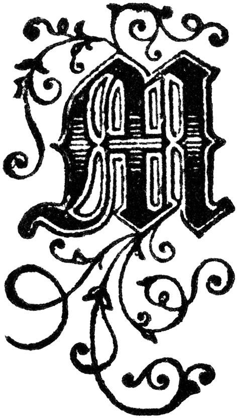 Fancy Letter M Designs Letters Decorative Letter M Clipart Etc Fancy