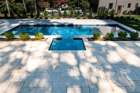 inground pond inground pool and spa in watchung by pools by design nj