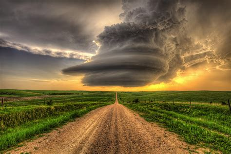 Images Of Nebraska Supercell Highway Arcadia Nebraska Photograph By Douglas
