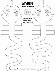 Snake finger puppets mr printables for Snake puppet template