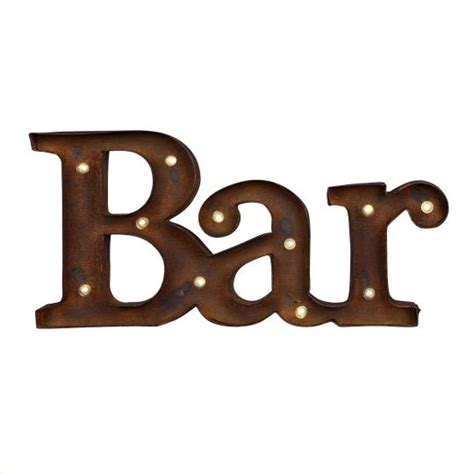 bar sign rustic iron rentals portland or where to rent