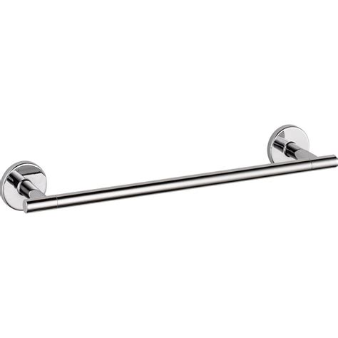 delta towel bars delta trinsic 12 in towel bar in chrome 75912 the home
