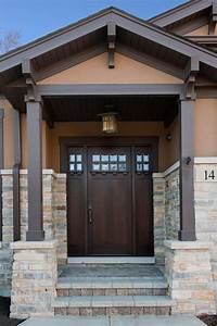 Craftsman, Front, Entry, Doors, In, Chicago, Il, At, Glenview, Haus
