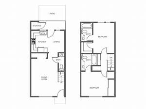 Floor plans of our spacious rental apartment homes in for Two story apartment floor plans