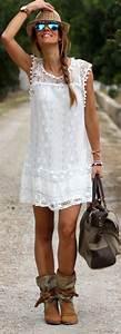 Mode Hippie Chic : robes de mode robe blanche hippie chic ~ Voncanada.com Idées de Décoration