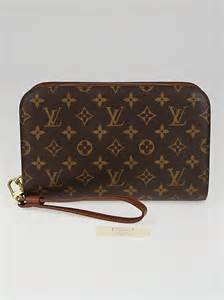 louis vuitton monogram canvas pochette orsay clutch bag
