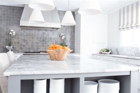 white granite contemporary kitchen benjamin