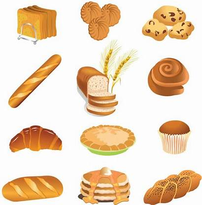 Bread Vector Bakery Clipart Brown Graphic Pastries