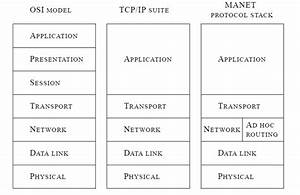 The Osi Model  Tcp  Ip Suite And Manet Protocol Stack  7