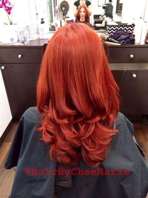 red hair bright red hair red copper hair pravana vivids