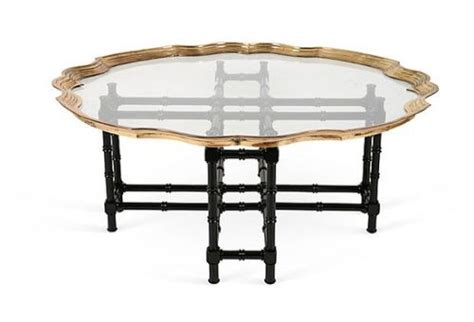 Baker Brass Glass Black Bamboo Table  For The Home