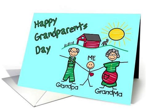 Happy #grandparents #day Greeting Card