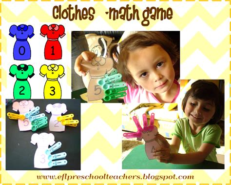 esl efl preschool teachers clothes theme for preschool ell 715 | blog clothes math