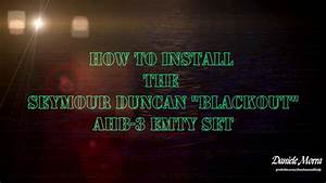 How To Install The Seymour Duncan Blackout Ahb 3 Emty Set
