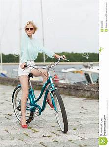 Sensual Girl With Bicycle Stock Image Image 31690571