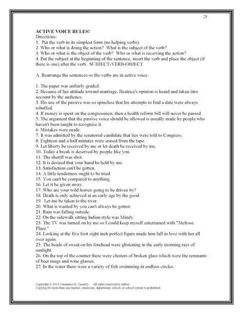 subject verb agreement worksheets high school pdf