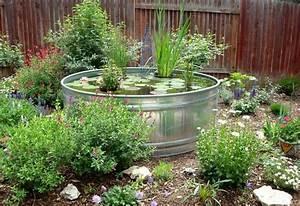 mini gartenteich bauen kleine oasen im garten oder auf With französischer balkon mit mini pool im garten bauen