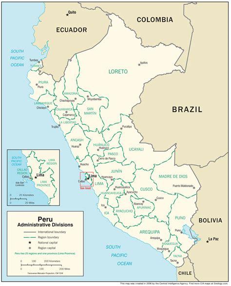 peru map  satellite image