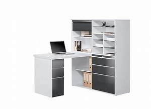Bureau Avec Rangement : bureau d angle avec rangement mini bureau lepolyglotte ~ Teatrodelosmanantiales.com Idées de Décoration