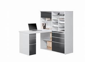 bureau d angle avec rangement mini bureau lepolyglotte With bureau d angle avec surmeuble