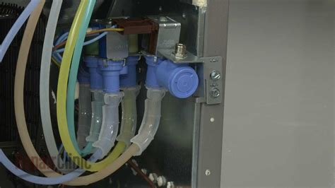frigidaire refrigerator replace water inlet valve  youtube