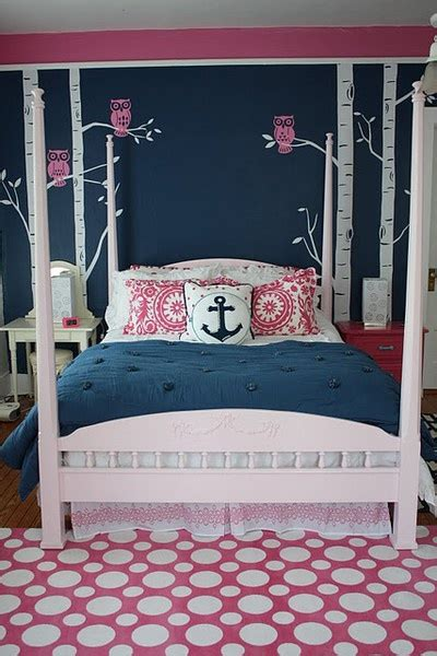 Navy And Pink Bedroom by Navy Pink Bedroom Gorg S Choice Replace Owls With