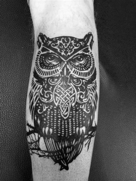 30 Celtic Owl Tattoo Designs For Men - Knot Ink Ideas