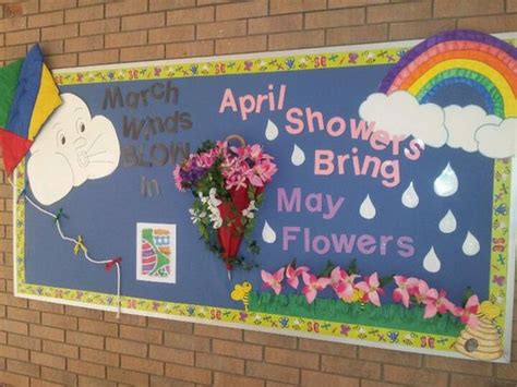 april showers bring may flowers bulletin board ideas march winds in april showers bring may flowers