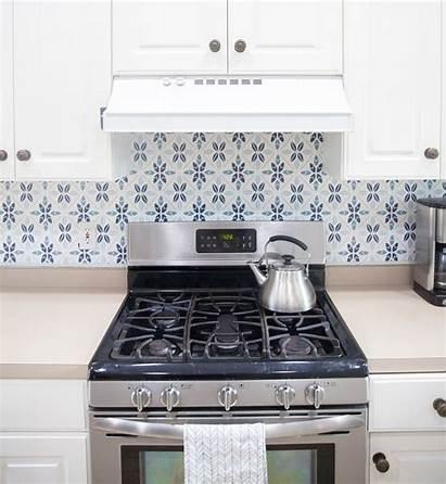 Backsplash Tile Faux Spoonflower Stove Behind Removable