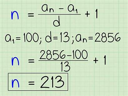 Arithmetic Sequence Term Geometric Nth Solve Know