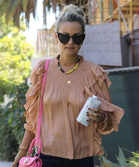 Laeticia Hallyday at Meche Hairdresser in Los Angeles 2018