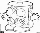 Trash Pack Toilet Coloring Wc Paper Roll Kleurplaat Colorir Rotolo Igienica Carta Papel Pintar Rollen Kleurplaten Rotllo Water Ausmalbilder Colorare sketch template