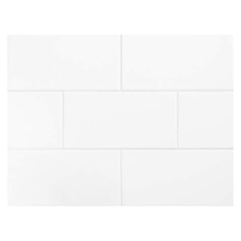 vermeere ceramic tile true white gloss 3 quot x 6 quot subway tile
