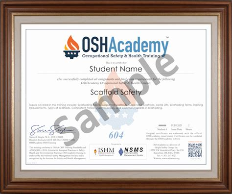 scaffold safety oshacademy   training