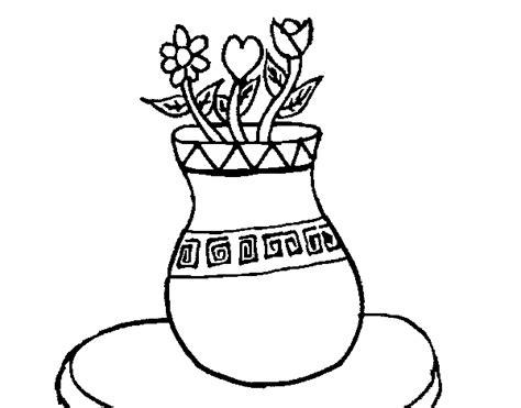 coloriage de vase avec des fleurs pour colorier