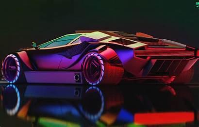 Cyberpunk 2077 Wallpapers Lamborghini Desktop Countach Neon