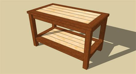 easy coffee table plans  woodworking