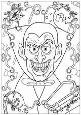 Halloween Coloring Colorare Disegni Vampire Colorear Coloriage Adults Adulti Coloriages Adultos Adult Dessin Events Immagini Enfants Vampires Dents Haunted Raccolta sketch template