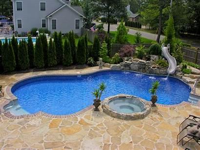 Pool Swimming Slides Pools Backyard Natural Inground