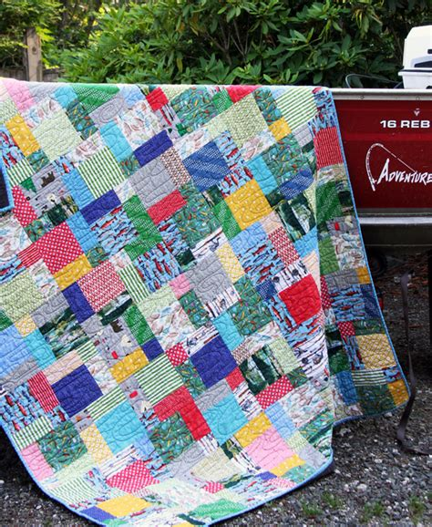 Fishing Boat Quilt by Ben S Fish Quilt Cluck Cluck Sew