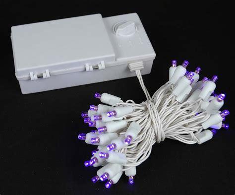 50 led christmas lights white 50 led battery operated christmas lights purple on white
