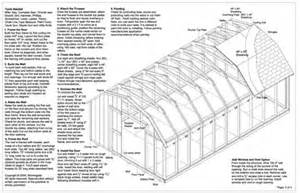 12x20 barn storage shed plans buy it now get it fast