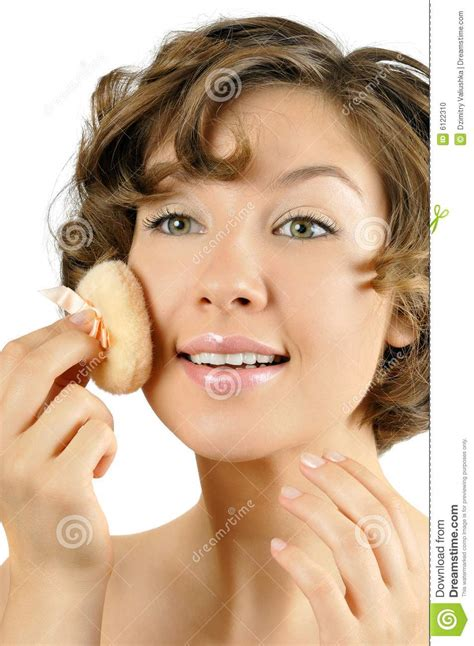 Young Fresh Pretty Girl Makes Up Stock Photo  Image 6122310