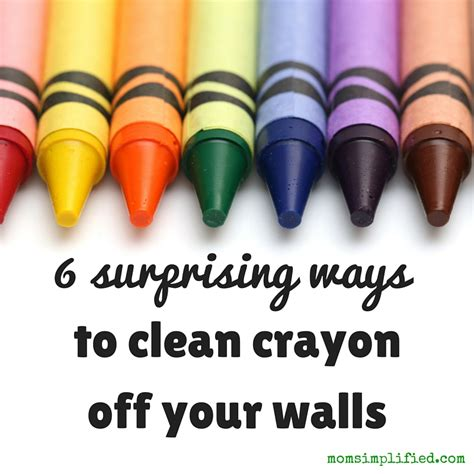 how to get crayon the wall 6 surprising ways to clean crayon off your walls