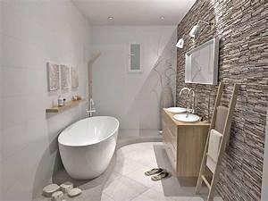 salle de bains zen vert peinture faience salle de bain With salle de bain ambiance zen