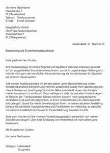 Bewerbung Als Kaufmann Im Einzelhandel : muster bewerbung als einzelhandelskaufmann ~ Watch28wear.com Haus und Dekorationen