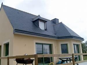 pente toiture ardoise pente toiture ardoise anti mousse With jardin en pente que faire 15 quel type de maison contemporaine choisir