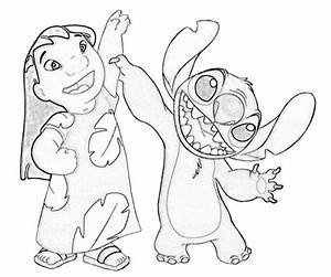 Lilo And Stitch Surfing Coloring Pages Get Coloring Pages
